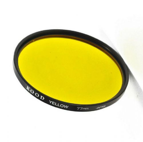 Kood High Quality Optical Glass Yellow Filter Made in Japan 77mm